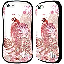 Official Monika Strigel Coral Tropical Peacock Hybrid Case for Apple iPhone 5c