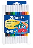 Pelikan Fasermaler Colorella Duo, 1 Set, 10-farbig