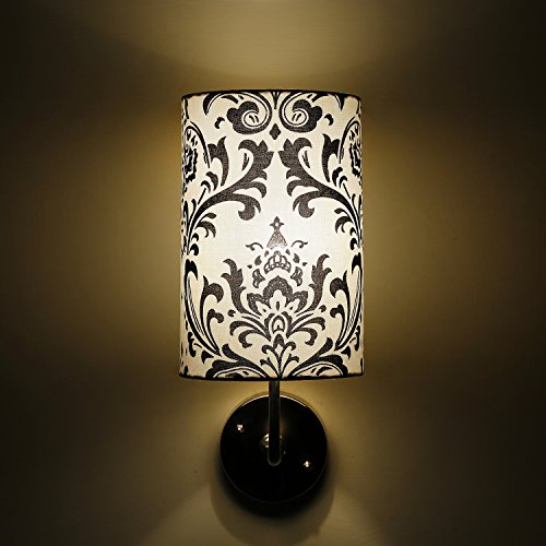Rajwada Design White and Black Modern Decorative Wall Lamp
