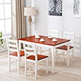 Best Dining Table Sets - UEnjoy Kitchen Dining Table and 4 Chairs Set Review