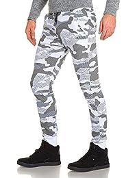 BLZ jeans - Pantalon de jogging blanc camouflage homme