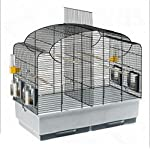 Beautifully Shaped Bird Cage With Basic Accessories For Parakeets, Black Grid - Can Be Partitioned Into Two Areas 3
