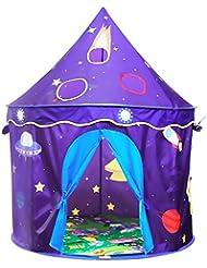 Tente d'enfants Homfu pour jouer à l'extérieur comme à l'intérieur, tente dépliable pour filles et garçons avec tapis doux (Violet avec tapis doux)
