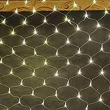 HJ®204 LEDs 2*2 m Lichternetz Sternenlicht Wasserdicht IP44 Weihnachtslichterkette warmweiß Lichterkette für Weihnachten Party Hochzeit außen innen Zimmer Konzerte