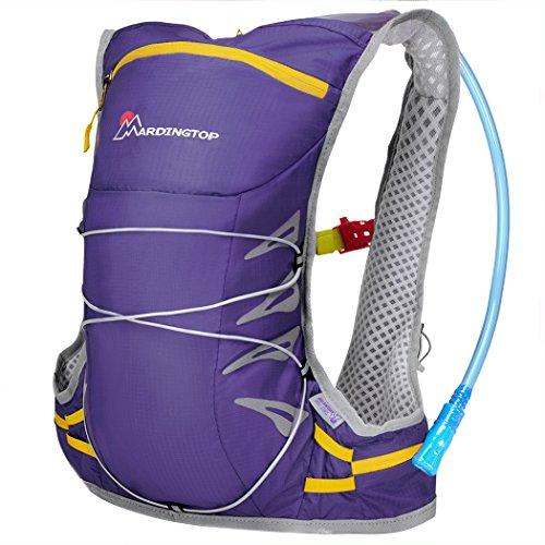 Mardingtop Wasserdicht Fahrrad Schulter Ultralight Rucksack, 41x30x12/ 25L Rucksack 51X32X16cm Drak violett