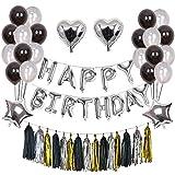 Weimi Geburtstag Dekorationen 52 Stück Ballons Set Alles Gute zum Geburtstag Banner Folienballon für Männer