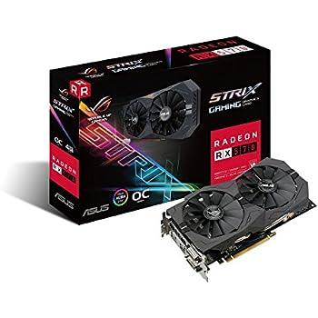 ASUS ROG Strix RX570 OC Edition - Tarjeta gráfica (4 GB GDDR5, 256 bits, 7000 MHz, OpenGL 4.5, DVI-D, HDMI 2.0) Negro