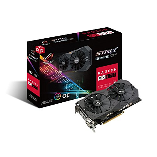Price comparison product image ASUS ROG-STRIX-RX570-O4G-GAMING ROG Strix RX570 OC Edition 4 GB GDDR5 Graphics Card - Black
