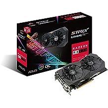 ASUS ROG-STRIX-RX570-O4G-GAMING ROG Strix RX570 OC Edition 4 GB GDDR5 Graphics Card - Black