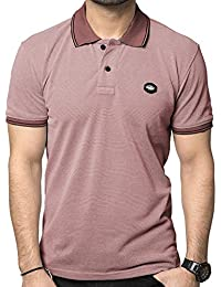ZEYO Men's Cotton Plain Polo Tshirt Half Sleeve