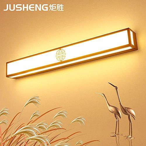LED Wandlamp Eenvoudige moderne Wandlamp Badezimmerschrank Spiegel Licht Spiegel Scheinwerfer LED Badezimmerschrank Retro Schlafzimmer Schminktisch LED Wandleuchte, Bronze 40cm / 16w, weißes Licht