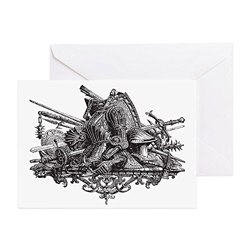 CafePress–Mittelalter Armor–Grußkarte (20er Pack), Note Karte mit Innen blanko,,...