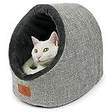 SCHLITZOHR Katzenhöhle Oskar | waschbare Premium Kuschelhöhle für Katzen &...