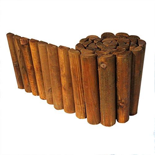 *Beetumrandung Rasenkante aus Holz Beetzaun 30 cm hoch 250 cm lang von Gartenpirat®*
