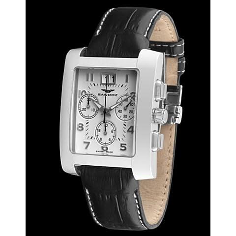 Sandoz 72549-00 - Reloj de Caballero de piel
