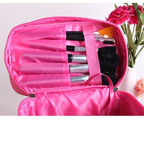 Streifen Tragbare Reise-Kosmetiktaschen Multifunktions- Aufbewahrungsbeutel Mehrfarbig Red