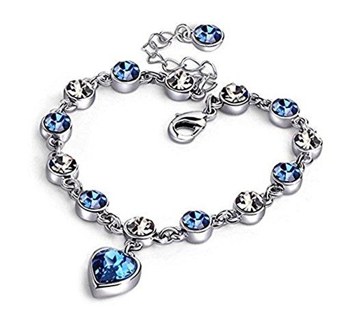 Scrox Fashion Armband Exquisite Shiny Hand Kette Silber Kristall Armbänder für Frauen Mädchen Schmuck Zubehör Geschenk, Größe Einstellbar (Stil 2)