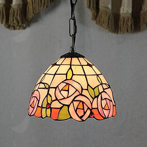 Uncle Sam LI-8 pollici Tiffany rosa fragile ¨¨ aumentato lampadari in vetro pastorali - Vetro Fragile Vetro