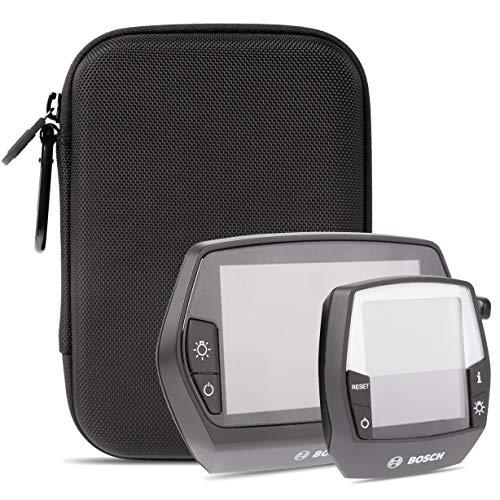 honju Bike 2in1 EVA Hartschalen-Schutztasche für Bosch Intuvia & Bosch Nyon E-Bike/Pedelec Tasche [Displayschutz I Innentasche für Schlüssel I Schutz vor Kratzer & Schmutz] - schwarz 61649