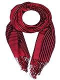 Kashfab Kashmir Frauen Herren Winter Mode Jacquard Schal, Wolle Seide stole, Weich Lange Schal, Warm Paschmina Rot Schwarz