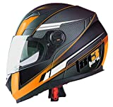 TORX Casque Moto CLINT 813 ORANGE : M