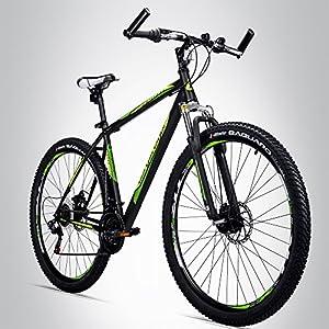 Bergsteiger Detroit 29 Zoll Mountainbike, geeignet ab 170 cm, Scheibenbremse,...