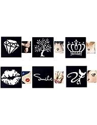 Tattoo pochoirs/modèles 6Petites Sheet Set de mini 1pour Henna Tattoo Glitter tattoo Air Brush Tattoo