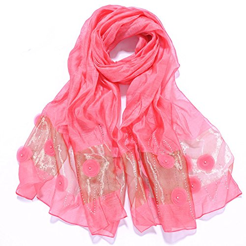 Mme Silk Scarf RoseRed