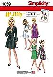 Simplicity H51059Tamaño de Costura para Jiffy Patrón de Costura para Vestido y fajines (o de Bufanda