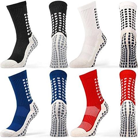 Fox Sports antideslizante calcetines de fútbol Trusox estilo, color rojo, tamaño UK 5.5 - 11