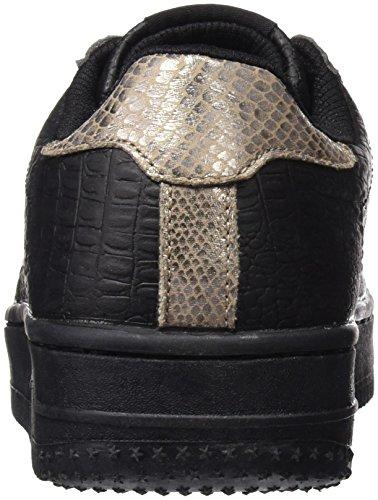 YUMAS Lindsey, Chaussures Classiques Femme Noir/camel