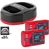 Baxxtar USB Dual Chargeur TWIN PORT 1823/2 avec 2x Baxxtar batterie pour Canon LP-E6N