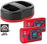 Baxxtar USB Dual Ladegerät TWIN PORT 1823/2 mit 2x Baxxtar Akku für Canon LP-E6N Für Canon XC10 XC15 EOS 60D 70D 80D 5D Mark I II III IV 6D 7D Mark I II