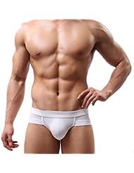 Calzoncillos para hombre, Amlaiworld Boxer de algodón de los calzoncillos suaves Briefs (Blanco, L)