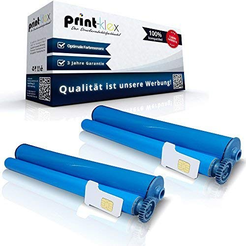 Print-Klex 2x Kompatible Thermorollen für Philips Magic 3-2 Trio Dect Magic 3-2 Voice Magic 3-2 Voice Dect SMS Magic 3-2 Voice SMS PPF 531 PPF 531 R PPF 571 PPF 571 R PFA 331 906115312009 Office Prin -