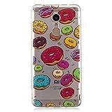 Shengheng Custodia Morbida in Silicone per Xiaomi Redmi 5 Plus,Custodia Flessibile in Gomma Custodia Sottile Trasparente in Cartone Animato Serie Creative - Macaron Donut