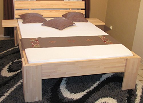 Doppelbett erhöhtes Ehebett 180×200 buche massiv BV-VERTRIEB Komfortbett Seniorenbett – (3012)