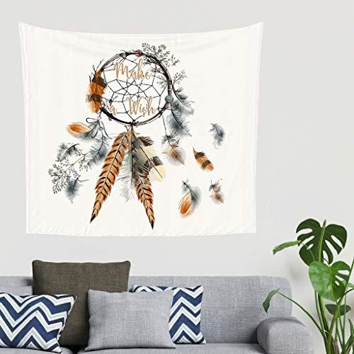 O5KFD&8 Traumfänger Design Tapisserie Gedruckt Vielseitigkeit Wandkunst - Minimalismus Muster für Studentenwohnheim White 230x150cm