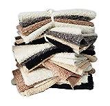 Webpelz, Furry Faux Schaf-Wolle Fleece, Fat Squares Reste Bundle, Neotrims. Verschiedene Farben, 4PCS Pro Bundle, 75x 40cm Fat. Limited Lager