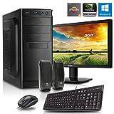 Office Komplett PC Set, Ryzen 5-1600 6x3.2 GHz, 21,5 Zoll TFT, Maus Tastatur Lautsprecher, 8GB DDR4, 1TB HDD, GT710 1GB, Windows 10 Spiele Computer zusammengestellt in Deutschland Desktop Rechner
