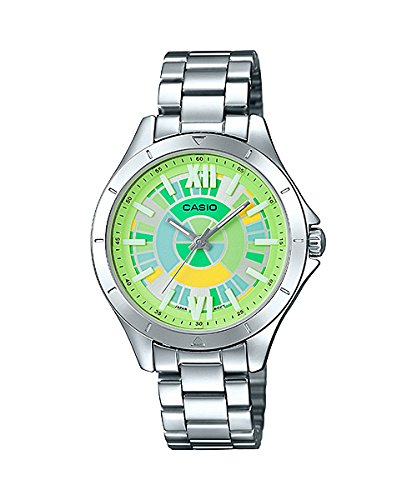 omen's Stainless Steel Rainbow Green Dial 3-Hand Analog Watch ()