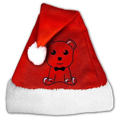 Gentleman Bear With A Bow Tie Santa Hat Christmas Classic Hats Supplies For Adults And Children Small