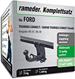 Rameder Komplettsatz, Anhängerkupplung abnehmbar + 13pol Elektrik für Ford TOURNEO Connect/Grand TOURNEO Connect Kombi (122106-11574-2)