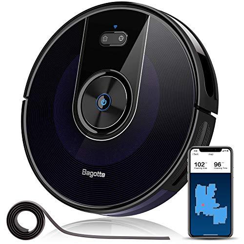 Bagotte Aspirateur Robot BG800, 2200Pa & WIFI et cartographie, compatible avecl'application Alexa...