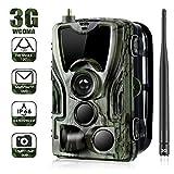 16MP Wildkamera 3G Überwachungskamera 1080P Nachtsicht Wasserdichte IP66 Jagdkamera Weitwinkel Vision Infrarote 20m mit Handy Übertragung 0,3s Auslösezeit Empfang für Wildtierjagd und Home Security