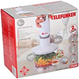 TELEFUNKEN 93604 Handmixer-Set, 0,65 L, 250 W
