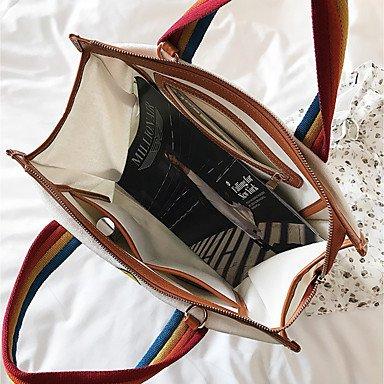 SUNNY KEY-Borsa a tracolla @ Donna Borsa a tracolla Corda Per tutte le stagioni Casual Baguette Cerniera Bianco Marrone , brown brown