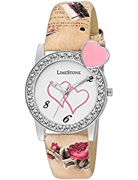 LimeStone Designer Strap White Dial Analogue Watch For Women's & Girl's - (LS1327)