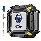 Luftkompressor, 12V 10A Digitaler Auto Kompressor Auto Luftpumpe tragebar mit 3.3M Stromleitung mit 9 große LED-Leuchten, Für Auto Motorrad Fahrrad Basketball