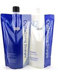 Cheveux Rebonding Shiseido Professional Crystallising à lisser (N1) + Soin neutralisant pour cheveux fins ou teinté (N2)